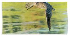 Long-billed Dowitcher 4799-091917-1cr Beach Towel