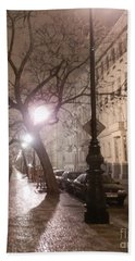 Long Cobblestone Street Of Prague Beach Towel