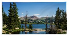 Beach Towel featuring the photograph Long Lake Wyoming No. 2 by TL Mair