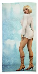 Beach Sheet featuring the digital art Long Legs by Jutta Maria Pusl