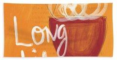 Long Life Noodle Bowl Beach Towel