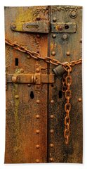 Long Locked Iron Door Beach Sheet