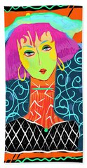 Long Neck Girl Beach Towel