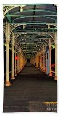 Beach Sheet featuring the photograph Long Platform Albury Station By Kaye Menner by Kaye Menner