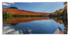 Long Pond From A Kayak Beach Sheet by Tim Kirchoff