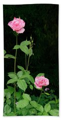 Beach Towel featuring the photograph Long Stemmed Rose by Jean Noren