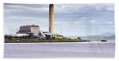 Beach Sheet featuring the photograph Longannet Power Station by Jeremy Lavender Photography