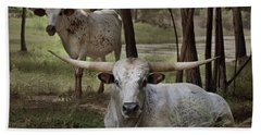 Longhorns On The Watch Beach Towel