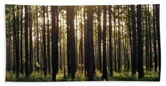 Longleaf Pine Forest Beach Towel