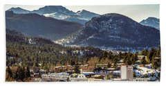 Longs Peak From Estes Park Beach Towel