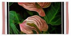 Longwood Lilies Beach Sheet by Trish Tritz