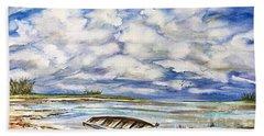 Lonley Boat 3 Beach Sheet