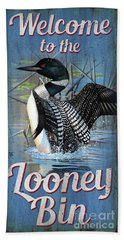 Lonney Bin Sign Beach Towel