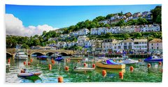 Looe In Cornwall Uk Beach Towel by Chris Smith