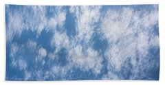 Look Up Not Down Clouds Beach Towel by Terry DeLuco