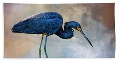 Looking For The Catch Of The Day Beach Towel by Cyndy Doty