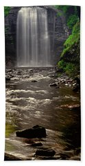 Beach Towel featuring the photograph Looking Glass Falls 009 by George Bostian
