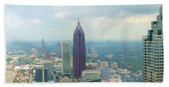 Beach Towel featuring the photograph Looking Out Over Atlanta by Mike McGlothlen