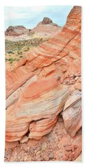 Beach Towel featuring the photograph Looking South In Valley Of Fire by Ray Mathis
