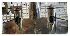 Beach Towel featuring the photograph Looking Up At The Air And Space by John S