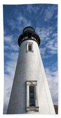 Beach Towel featuring the photograph Looking Up At The Lighthouse by Mary Jo Allen