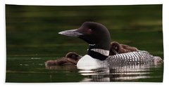 Loon Chicks Beach Towel