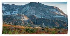 Loowit Falls Mount St Helens Wildflowers Beach Towel by Mike Reid