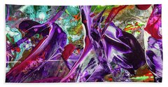 Lord Of The Rings Art - Colorful Modern Abstract Painting Beach Towel by Modern Art Prints