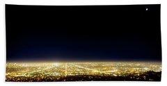 Los Angeles City Skyline Beach Towel