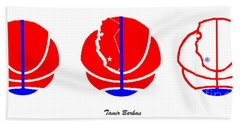 Beach Towel featuring the digital art Los Angeles Clippers Logo Redesign Contest by Tamir Barkan
