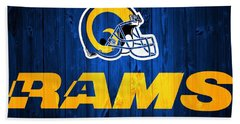 Los Angeles Rams Barn Door Beach Towel