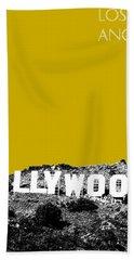 Los Angeles Skyline Hollywood - Gold Beach Towel