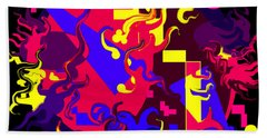 Loss Of Equilibrium Beach Towel by Yvonne Blasy
