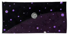 Lost In Midnight Charcoal Stars Beach Towel