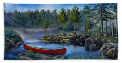 Lost In The Boundary Waters Beach Sheet