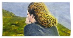 Lost In Thought Beach Towel by Karyn Robinson