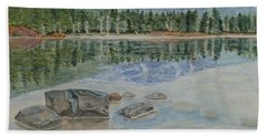 Beach Towel featuring the painting Lost Lake Whistler Bc Canada by Kelly Mills