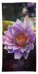Lost Lavender Lotus Blossom 4725 Ldp_2 Beach Towel