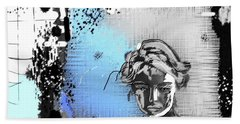 Beach Towel featuring the digital art Lost Love by Sladjana Lazarevic