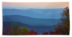 Beach Towel featuring the photograph Lost On The Blueridge by B Wayne Mullins