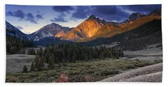 Lost River Mountains Moon Beach Towel