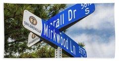 Lotr Mirkwood Street Signs Beach Sheet by Gary Whitton