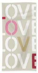 Beach Towel featuring the mixed media Lots Of Love- Art By Linda Woods by Linda Woods