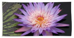 Lotus And Leaf Counterpoint Beach Towel