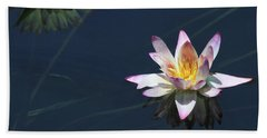 Lotus And Reflection Beach Towel