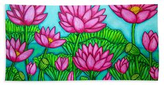 Lotus Bliss II Beach Towel