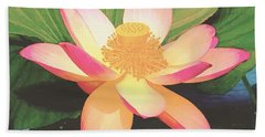 Beach Towel featuring the painting Lotus Flower by Sophia Schmierer