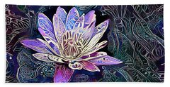 Lotus From The Mud Beach Towel
