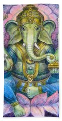 Lotus Ganesha Beach Towel