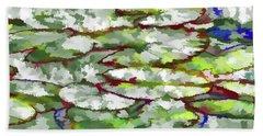 Lotus Leaves Beach Towel by Lanjee Chee
